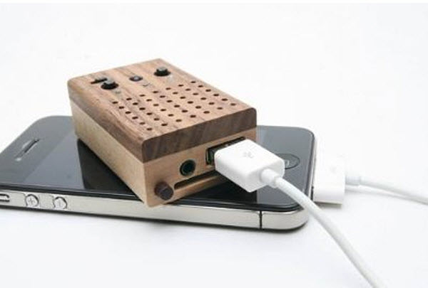 derevjannij dinamik radio tiny wooden power speaker Древесный динамик радио Tiny Wooden Power Speaker