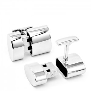 Polished Silver Oval WiFi and 2 GB USB Combination Cufflinks 300x300 USB запанки